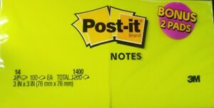 Post it 3 X 3 Note Pads 100 Sheets Per Pad 28 pack 2 Packs Of 14