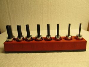 Snap On 8 Pc 3 8 Drive Standard Hex Allen Socket Set Sae 1 8 To 3 8 Usa