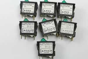 Assorted Weber Protection schurter Circuit Breaker With Rocker Switch lot Of 7
