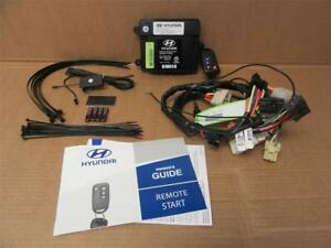 Oem 2010 2012 Hyundai Santa Fe Remote Start Engine Starter Security System Kit