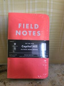 Starbucks Reserve New Field Notes Set Of Five 5 Capitol Hill Memo Books
