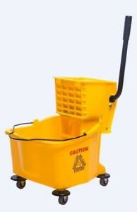 38 Quart Commercial Large Yellow Mop Bucket With Wringer 9 5 Gallon