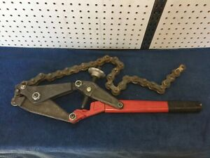 Wheeler rex Chain Pipe Cutter Usa Made