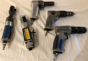Lot Of 5 Pneumatic Tools Aviation 1 2x Rivet Gun Drills More Untested