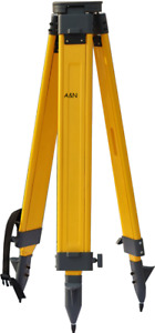New Heavy Wooden Tripod For Survey Instrument Total Station Level