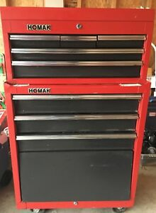 Homak Tool Drawer Box And Tool Cabinet On Wheels 2 Pieces With Locks And Keys