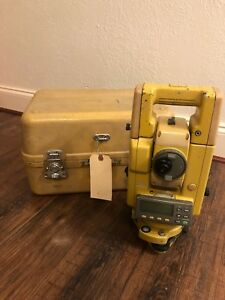 Topcon Gts 313 Electronic Total Station Series Gts300 Gts313 With Case