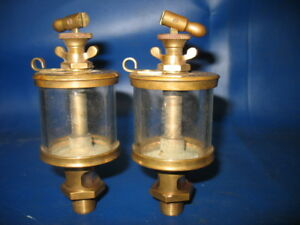Old Vintage Hit Miss Gas Engine 2 Powell Signal Oilers Nos