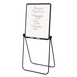 Quartet Ultima Easel Whiteboard flipchart 27 X 34 Reversible Black Frame