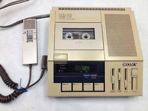 Sony Bm 75 Dictator transcriber Machine With Hand Control Unit Hu 70
