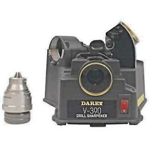 Darex V 390 new Drill Sharpener Easy 3 Step Process 118 To 135 Degrees