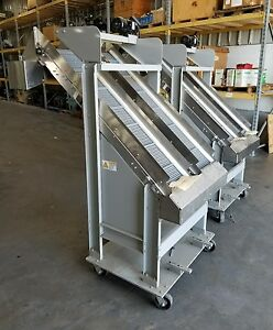 Inclined Cleated Conveyors 12 Stainless Food Grade shipping Available 3073sr