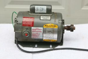 Reversible Baldor 1 4 Hp Electric Motor 1725 Rpm 1ph 115 230 Thermal Protected