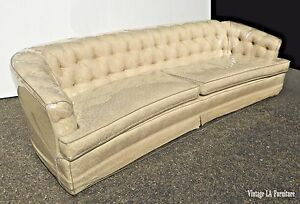 Vintage Mid Century Chesterfield Style Tufted Off White Sofa Rudin S Since 1912