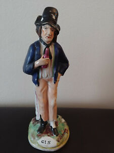 Antique 19th C English Staffordshire Water Gin Figurine 8 5 Inches Tall