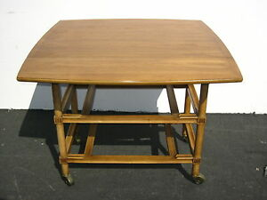 Vintage Drop Leaf Table Entry Table W One Drawer Rapids Furniture Company