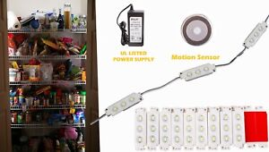 Ledupdates Closet Storage Pantry Led Light Kit Motion Sensor Switch Ul Power