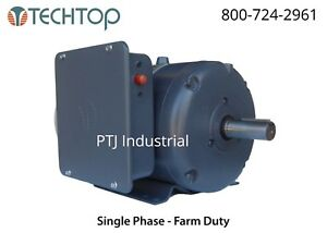 5 Hp Electric Motor 184t 1 Phase 1800 Farm Duty Single Phase Compressor Severe
