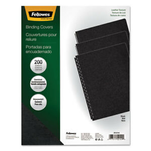 Executive Leather like Presentation Cover Round 11 1 4 X 8 3 4 Black 200 pk