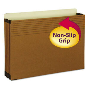 Easy Grip File Pocket Legal 3 1 2 Exp Redrope 25 box