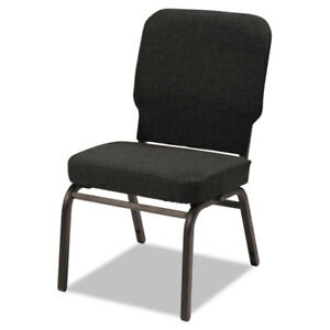 Oversize Stack Chair Black Fabric Upholstery 2 carton
