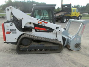 2017 Bobcat T740 Track Loader With Denis Cimaf Mulching Head