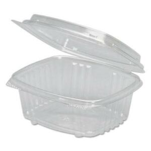 Clear Hinged Deli Container Apet 12 Oz 5 3 8 X 4 1 2 X 2 7 8 200 carton