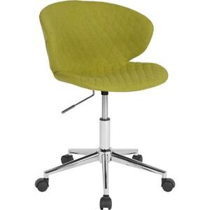 Cambridge Home And Office Upholstered Mid back Chair In Citrus Green Fabric