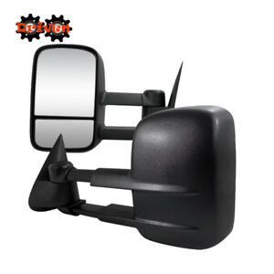 Power Heat Towing Extended Side Mirrors 99 02 Chevy Silverado 1500 2500 3500 Hd