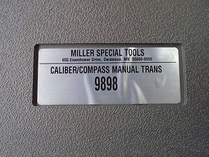 Miller Special Tools 9898 Caliber compass Manual Transmission Kit 9898 Like New