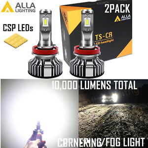 Alla Lighting Led Ts h11 Headlight cornering driving Light Bulb Super Slim Fit