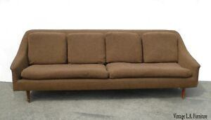 Vintage Mid Century Modern Brown Sofa Couch Folke Ohlsson For Dux Style