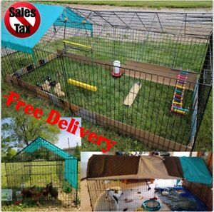 Chicken Cook Cage Pens Crate Rabbit Pet Playpen Exercise Pen Wire Coop Hutch New