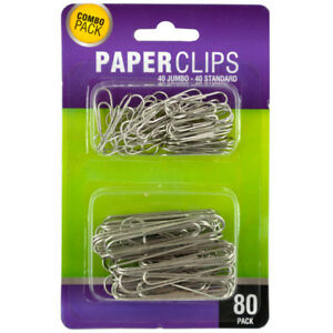 Set Of 24 Bulk Lot Standard Jumbo Paper Clips Set