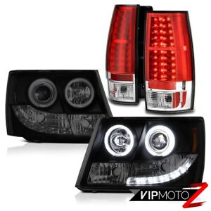 07 14 Chevrolet Tahoe Bright L e d Taillamps Ccfl Halo Drl Headlights Headlamps