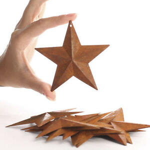 Lot Of 8 Rusty Barn Stars Americana 3 75 Inch 3 3 4 Rusted Primitive Country