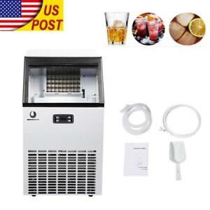 Us Stainless Steel Commercial Ice Maker Undercounter Freestanding Machine Bar Tp