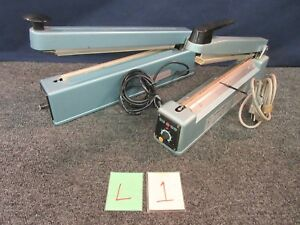 2 12 Uline Impulse Sealer Kf 300hc Tish 300 Tew Plastic Poly Bag Shrink Used