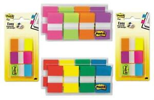 Post it Message Flags sign Here Red 1 inch Wide 200 desk Grip