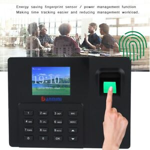 2 8 Tft Biometric Fingerprint Time Attendance Clock Employee Payroll Recorder