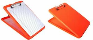 Saunders Bright Orange Slimmate Plastic Storage Clipboard Letter Size