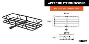 Curt 18145 Basket Trailer Hitch Cargo Carrier 500 Lbs Capacity Universal