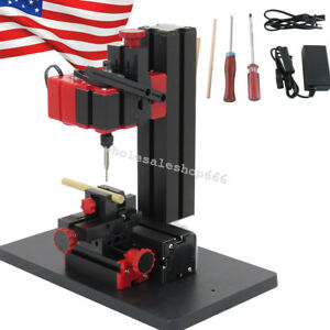 Portable 6 In1 Mini Jig saw Drilling Sanding Wood turning Lathe Milling Metal