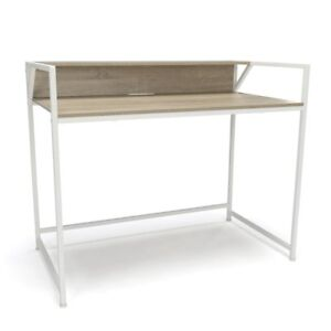 Computer Desk With Shelf White natural