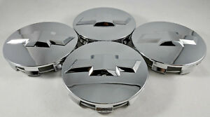 4x Chrome Wheel Center Caps For Chevrolet Surburban Silverado Tahoe 88963143