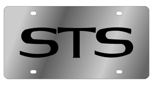 Cadillac Sts Logo Mirror Polished 3d Logo Finish Stainless Steel License Plate