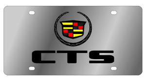 Cadillac Cts Logo Mirror Polished 3d Logo Finish Stainless Steel License Plate