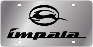 Chevrolet Impala Mirror Polish 3d Finish Logo Stainless Steel License Plate
