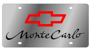 Chevrolet Monte Carlo Mirror Polish 3d Finish Logo Stainless Steel License Plate
