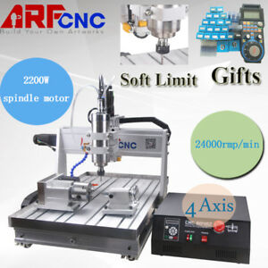 Usa Usb Four 4 Axis 6040 2 2kw Cnc Router Engraver Engraving Milling Machine